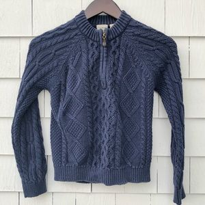 LL BEAN. Navy. Cabled Cotton Sweater.